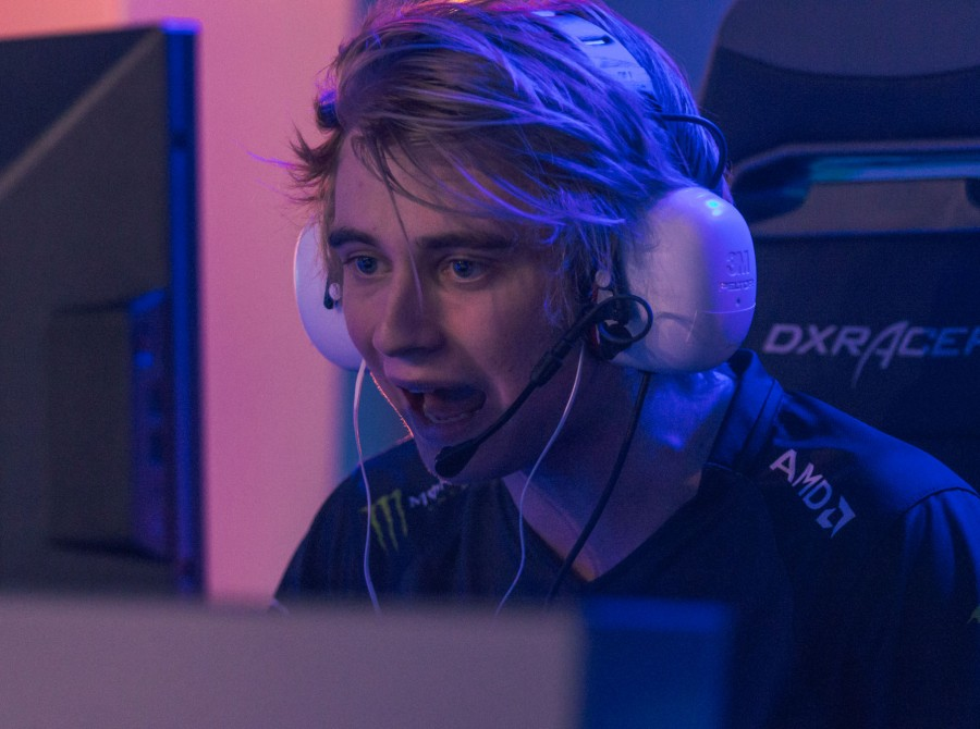 Photos of the Fnatic HOTS team at Dreamhack Summer